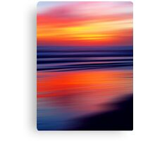 Beach a Blaze Canvas Print