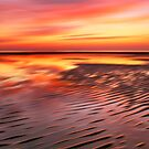 Beach Ripples Sunset by David Alexander Elder