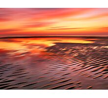 Beach Ripples Sunset Photographic Print
