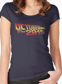 October twenty 21st 2015 Anniversary Women's Fitted Scoop T-Shirt