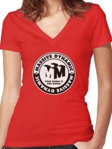 Massive Dynamic Women's Fitted V-Neck T-Shirt
