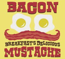 Bacon - Breakfast's Delicious Mustache Kids Tee