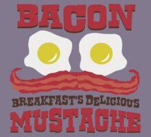 Bacon - Breakfast's Delicious Mustache Kids Clothes