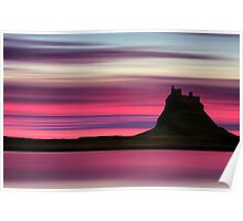 Dusk over Holy Island Poster