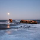 Moonset by David Haworth