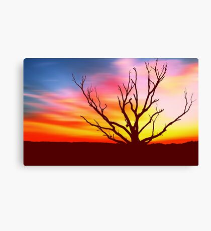 Inferno Tree Canvas Print
