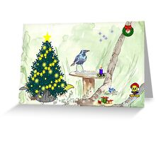 The Starling and Christmas in Africa Greeting Card