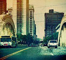 Bridge into St. Paul Minnesota by susan stone
