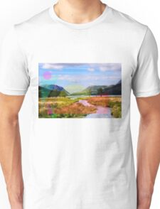 Throwing shapes at the mountains Unisex T-Shirt