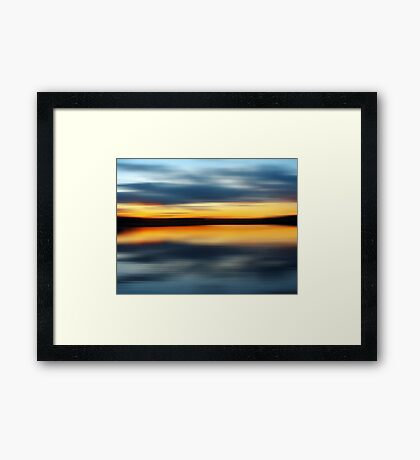 Lake Night Framed Print