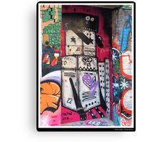 Robot Graffiti Canvas Print