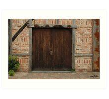 double door at montsalvat Art Print