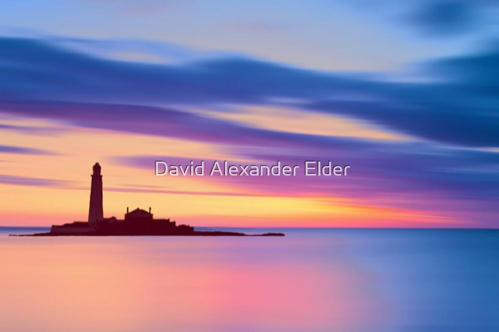 Lighthouse Dusk by David Alexander Elder