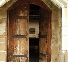 door ajar with painting by simonecoleman
