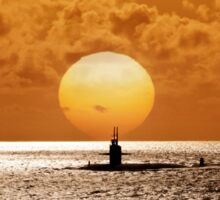 Sunset At Pearl Harbor  Sticker