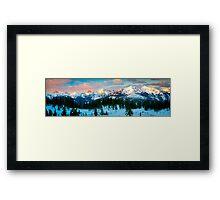 Border Peaks Framed Print
