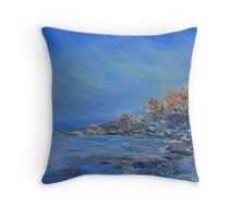summer morning mist  Throw Pillow