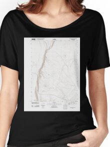 USGS Topo Map Oregon Antelope Butte 20110816 TM Women's Relaxed Fit T-Shirt