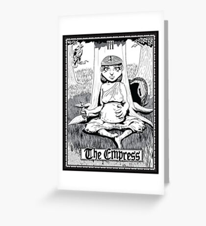 The Empress Tarot Card Greeting Card