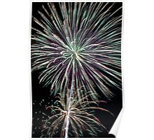 Dazzling Pyrotechnic Display Poster