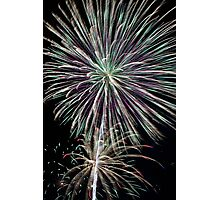 Dazzling Pyrotechnic Display Photographic Print