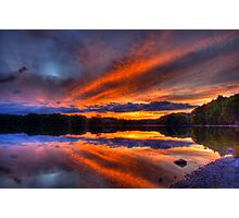 Lake of the Woods Sunset  Photographic Print