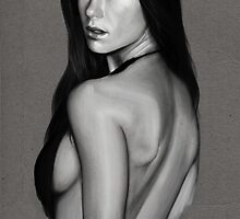 Rhona Mitra - Speedpainting by Ashley Quenan