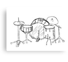 Drum kit drawing Canvas Print