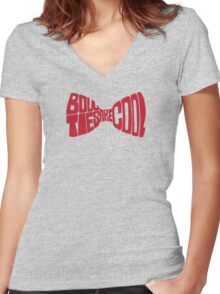Bow ties are cool Women's Fitted V-Neck T-Shirt