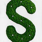 "Topiary Alphabet ""s"" Coloured by Donna Huntriss"