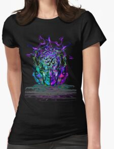 Cyan Conciousness Womens Fitted T-Shirt