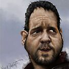 Russell Crowe... Gladiator.  by Wayne Dowsent