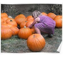Child vs. Pumpkin I Poster
