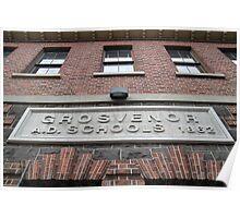 Bluestone Victorian School Facade, Abbotsford Poster