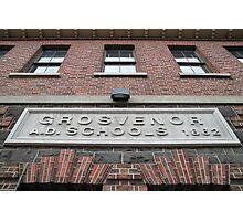 Bluestone Victorian School Facade, Abbotsford Photographic Print