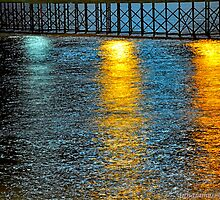 reflections of the moon in the river by AnnaJameson
