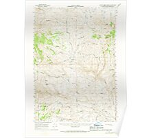 USGS Topo Map Oregon Clover Creek Ranch 282346 1966 62500 Poster