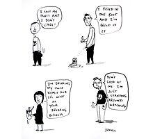 a  bad taste cartoon Photographic Print