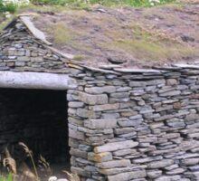 Fisherman's Huts, Orkney Sticker