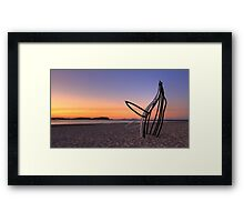 Whale in the Sand Framed Print