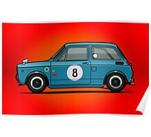 Honda N600 Blue Kei Race Car Poster