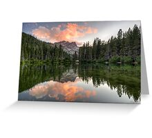 Sierra Buttes Sunset Greeting Card