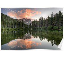 Sierra Buttes Sunset Poster