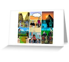 Triptych triptych Greeting Card