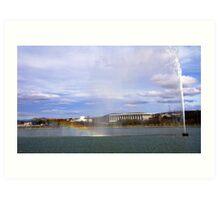 Scene over Lake Burly Griffin Canberra Art Print