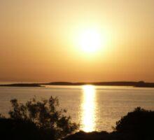 Paros Island, Greece - At Day's End Sunset Sticker
