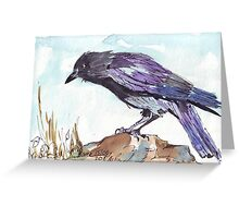 The playful Crow Greeting Card