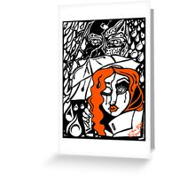 'Rain On Me In The Blackground ~ Orange Distraction' Pieces Art™ Greeting Card