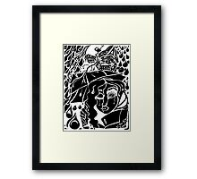 'Rain On Me In The Blackground ~ black on white' Pieces Art™ Framed Print