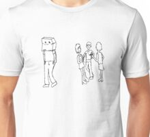 Lonely bag head boy Unisex T-Shirt